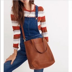 Madewell Jessica Camel leather shoulder strap tote